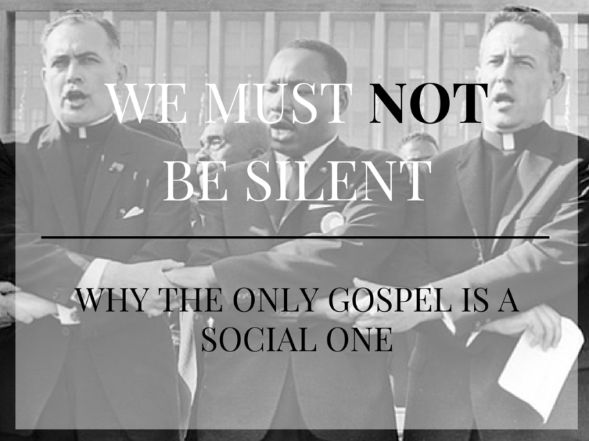WE MUST NOT BE SILENT